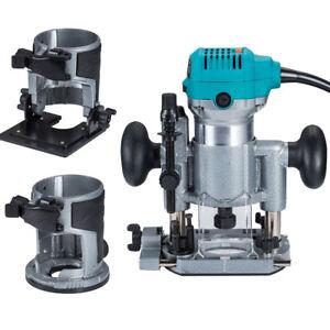 Fresatrice-Verticale-Elettrica-Rifilatore-710W-Power-Router-Trimmer-3-Basi-Kit