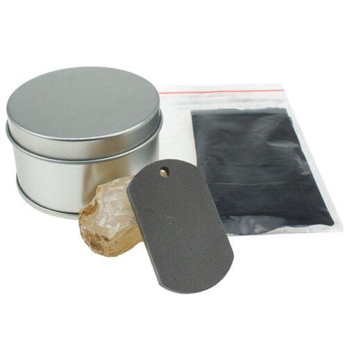 Carbon Steel Fire Striker Flint Stone Char Cloth Survival Fire Starter Kit