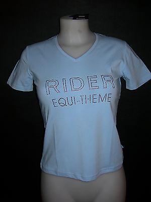 Avere Una Mente Inquisitrice Tee Shirt équitation Equi Theme Diamond (963080120) , Femme- Bleu En Xs / Neuf Altamente Lucido
