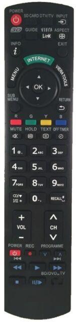 Ersatz Panasonic Fernbedienung für TX-L55DT50Y - TX-L55WT50B - TX-L55WT50E