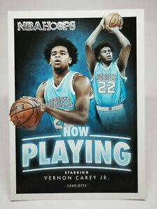 Panini Hoops 2020-21 N19 RC NBA Now Playing Hornets Vernon Carey Jr #SS-1 Rookie