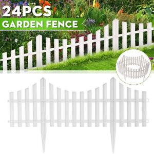 24Pc-Garden-Border-Fence-Pannels-Outdoor-Living-Landscape-Decor-Pet-Edging-Yard