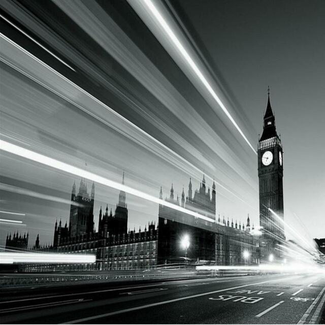 1 WALL GIANT PHOTO WALLPAPER LONDON BIG BEN BLACK WHITE POSTER MURAL 3.15x2.32m