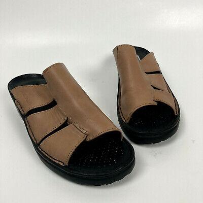 Josef Seibel Size 37 6.5 Sandals Tan Slip On Comfort Shoes Open Toe Mules   eBay