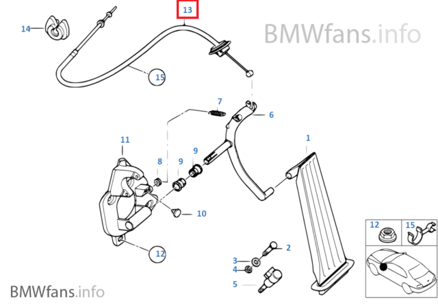 Buy Oem Bmw 35411164597 Accelerator Bowden Cable Online
