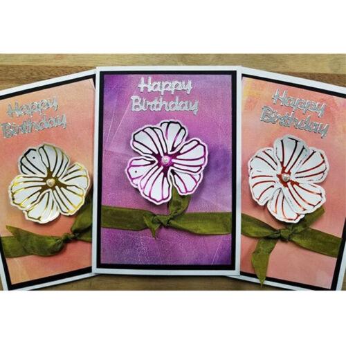Butterfly Flower Word Hot Foil Plate Metal Cutting Dies Stencils For DIY Scrapbo