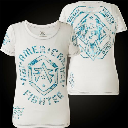 Weiß Affliction Fighter shirt T donna American Calvin nqZSxwOU