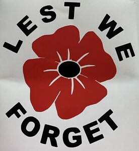 x24 Poppy Remembrance vinyl sticker stickers craft diy Lest We Forget car home
