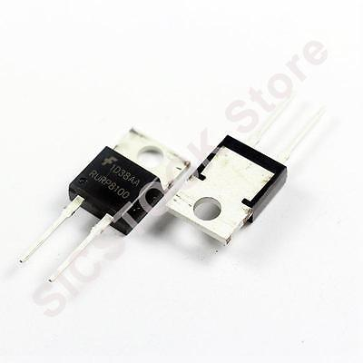 RURP8100 8A 1000V Ultrafast Diodes TO-220AC Pack of 2