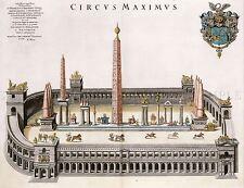 PAINTING LANDMARK BLAEU CIRCUS MAXIMUS ANCIENT ROME REPLICA POSTER PRINT PAM1467