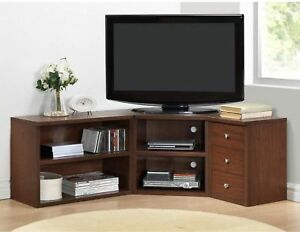 Corner Tv Stand Entertainment Center Media Console Cabinet Flat