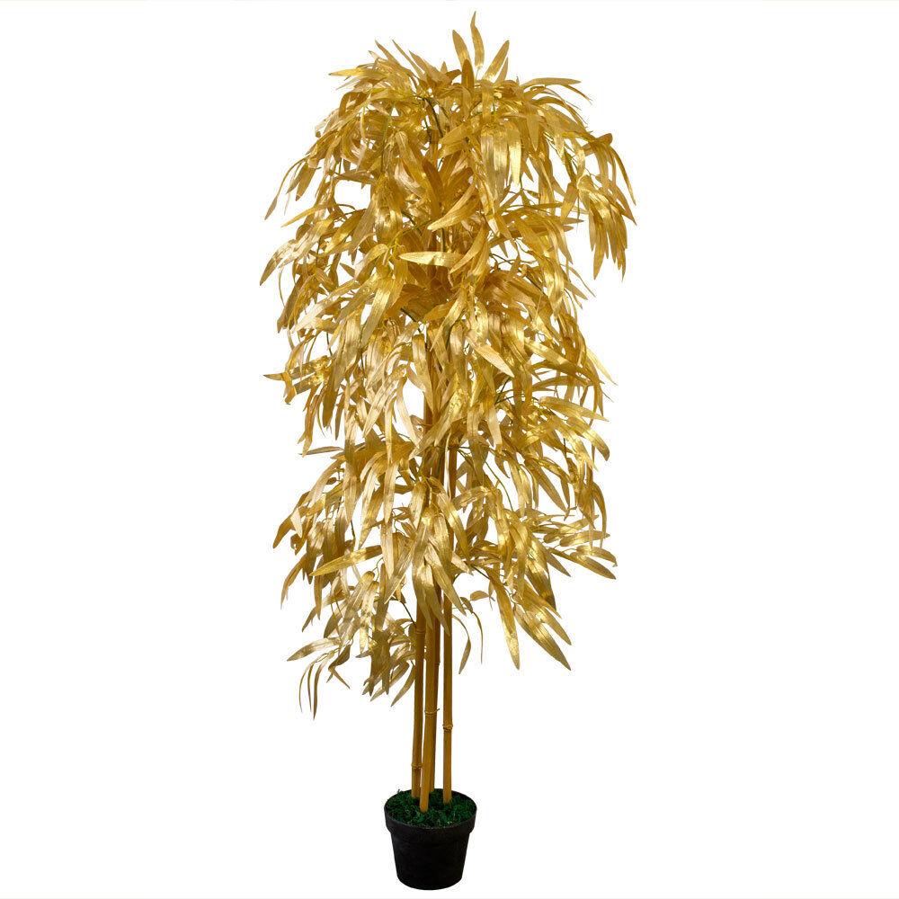 Bambus Kunstpflanze Künstliche Pflanze 160cm Decovego