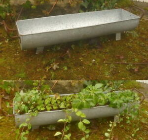 Pot de fleurs gouttière Zuber Décoration jardin en zinc style ...