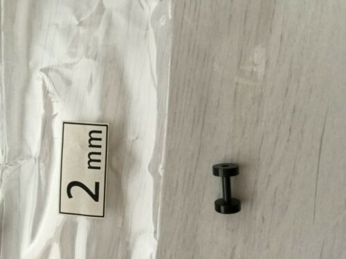 Men TITANIUM Steel 316L Expander Ear Taper Plug Round Stretcher Piercing Earring