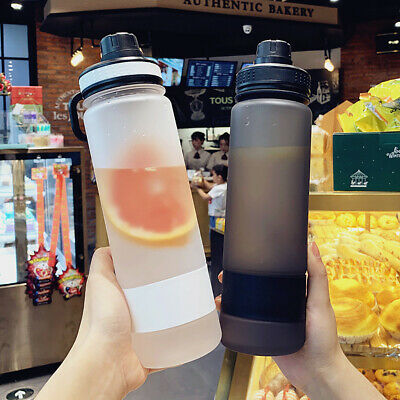Portable 600//1000ML Plastic Juice Water Bottle Cup Sport Camping Cycling Travel