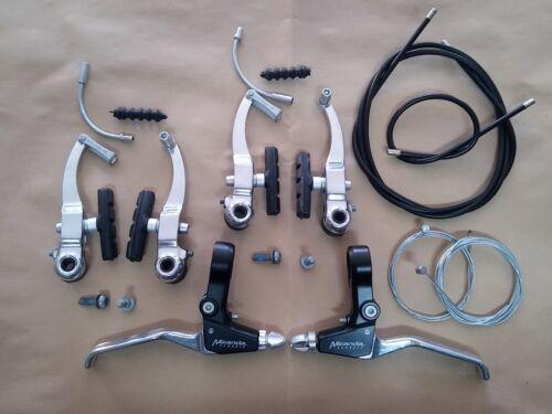 Brake kit v-brake aluminum pair levers for bike 20-24-26 MTB Mountain Bike