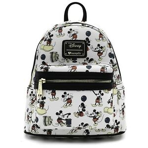 Image is loading Loungefly-Disney-Mickey-Mouse-Poses-Mini-Faux-Leather- a771b0d881944