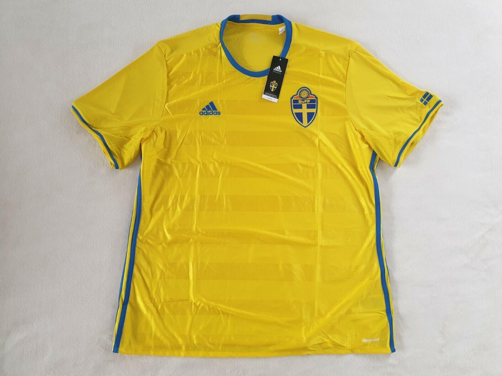 Schweden Trikot Home Adidas Größe S XL 2XL 3XL -NEU- Sverige Sweden