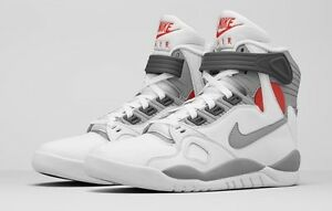 best website a4b2c 3ffbe Image is loading Nike-Air-Pressure-Retro-Mag-Marty-McFly-White-