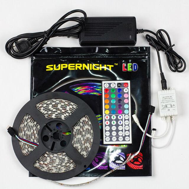 5M SMD RGB 5050 Waterproof Strip light 300 LED + 44 Key IR Remote + 12V 5A power