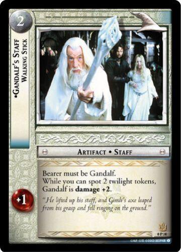 LoTR TCG Promo Gandalf/'s Staff Walking Stick 0P38