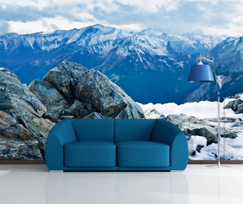 3D nature Snow Mountain stone Wall Paper Wall Print Decal Wall AJ WALLPAPER CA