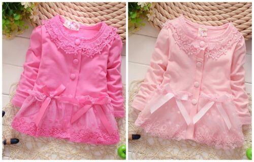 baby clothes baby girls jackets  girls coat cardigan Peplum baby lace pink coat