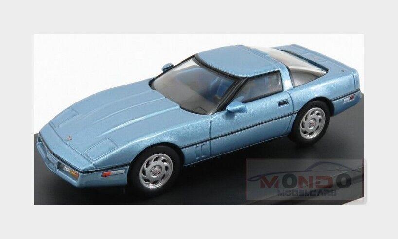 Chevrolet Corvette C4 Coupe 1984 ljus blå Met PREMIUM -X 1 43 PRD591 modellllerlerl