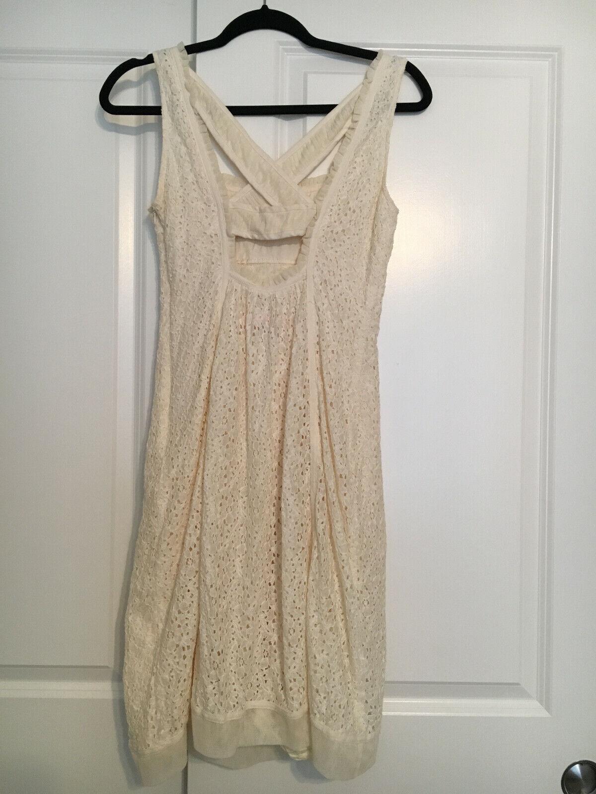 Cynthia Cynthia Steffe Cream Lace Shift Dress 6