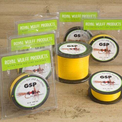Royal Wulf GSP Fly Backing Ultra Thin Gel Spun 30# 300YD 1200YD Yellow 600YD