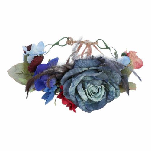 Women Ladies Flower Crown Headbadn Bridal Wedding Beach Garland Hair Accessories