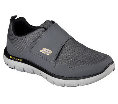 52183 Charcoal Skechers Shoe Men Memory Foam Comfort Sport Mesh Casual Strap New