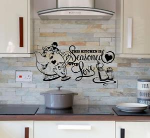 COPPA Pentola da Cucina Love Adesivi Murali ARTE sala da ...