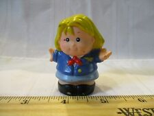 Fisher Price Little People girl lady Pilot Stewardess airport airplane blonde