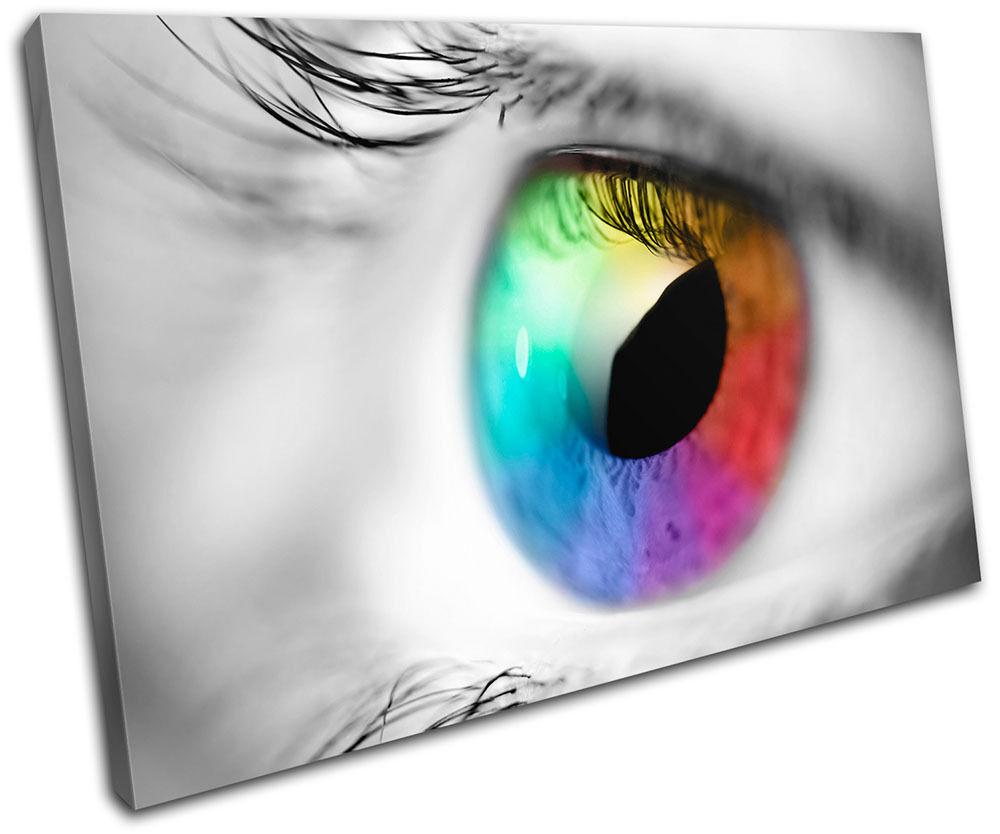 Rainbow Eye Abstract SINGLE TOILE murale ART Photo Print