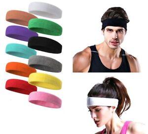 aecb96da90b1ad Das Bild wird geladen Unisex-Baumwolle-Sport-Sweat-Schweissband-Stirnband- Yoga-Fitnessstudio-