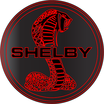 Cobra Shelby Red Ford Mustang GT Racing Vinyl Sticker Decal