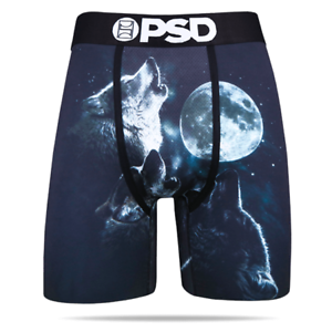 09eb7dfb34400 PSD Howling Wolf Moon Stars Animals Urban Boxer Briefs Underwear ...