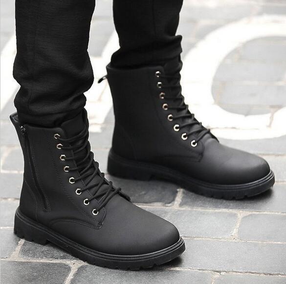 Vintage Men's British Style Lace Up Combat Boots Wearable Boots Winter shoes SZ