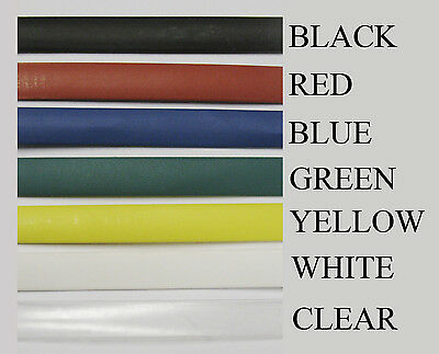 "3mm - 1/8"" Heat Shrink Tubing Tube Sleeve Wrap 2 5 10 25 50 100 Feet"