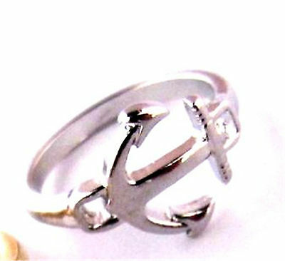 Vintage style anchor charm ring multipl choices