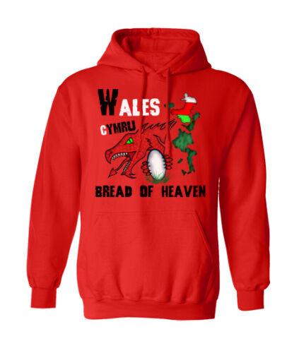 Sweat à capuche du Pays de Galles Rugby Six Nations 6 pain du Ciel Welsh Homme Femme Sweat à capuche T56