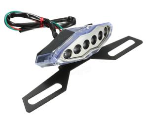 Motorcycle-10-LED-Rear-Tail-Brake-Running-License-Plate-Light-Bracket-Holder