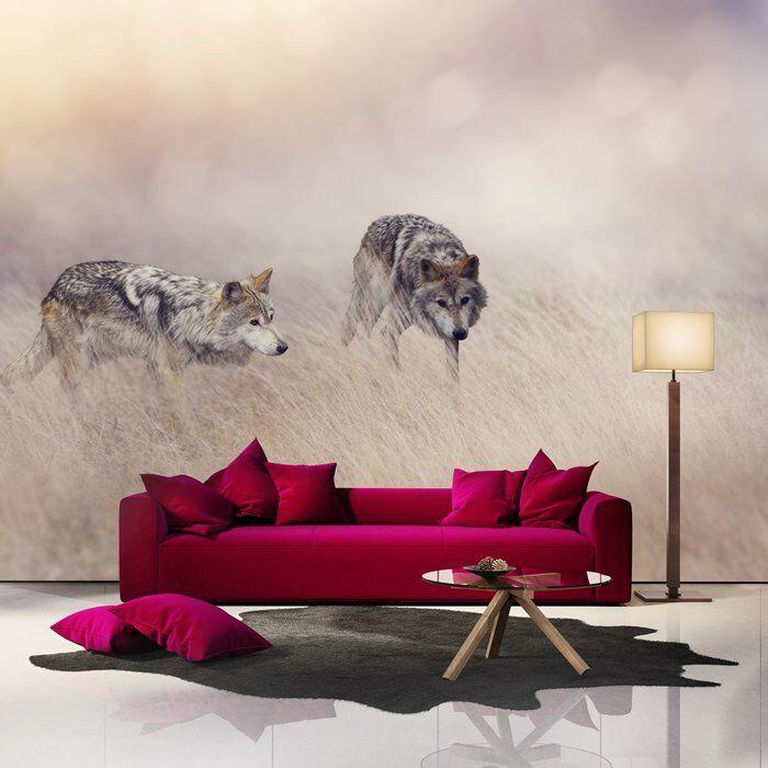 Grauer Wolf Fototapete Tierlandschaft Tapete Wohnzimmer Schlafzimmer Dekor