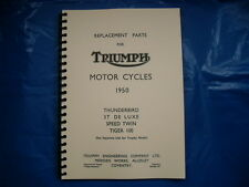 TRIUMPH PRE-UNIT PARTS BOOK FOR 1950 6T,5T,3T,T100