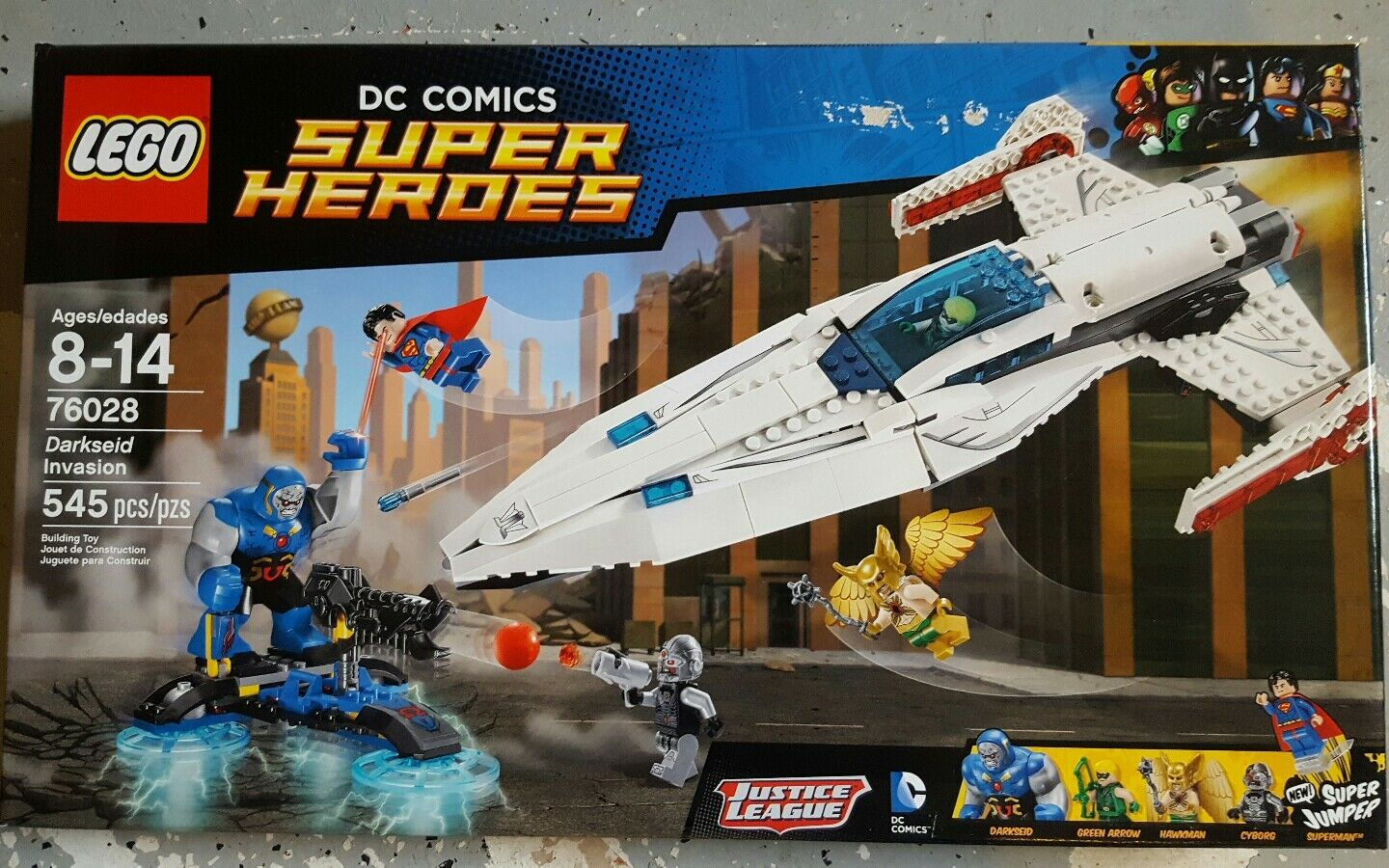 Lego 76028 76028 76028 Darkseid Invasion 545pcs e172be