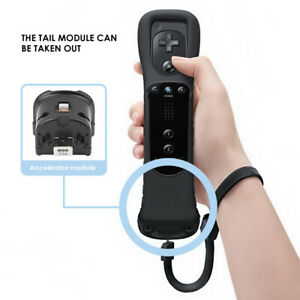 Black Remote Controller Built in Motion Plus Nunchuck For Nintendo Wii U NEW