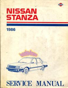 shop manual stanza service nissan repair 1986 book haynes chilton ebay rh ebay com Haynes Repair Manuals Mazda Haynes Repair Manual 1991 Honda Civic