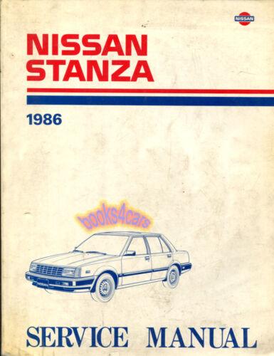 SHOP MANUAL STANZA SERVICE NISSAN REPAIR 1986 BOOK HAYNES CHILTON