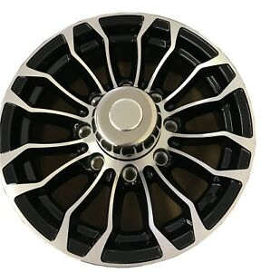 New-16-034-Aluminum-Trailer-Wheel-16x6-8x6-5-8-Lug-Pinnacle-01-with-Center-Cap